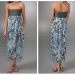 Elizabeth and James Strapless Silk Dress